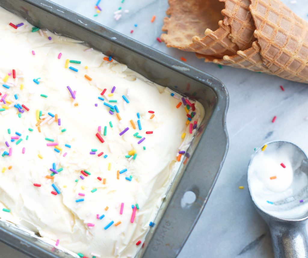 Homemade Cake Batter Ice Cream