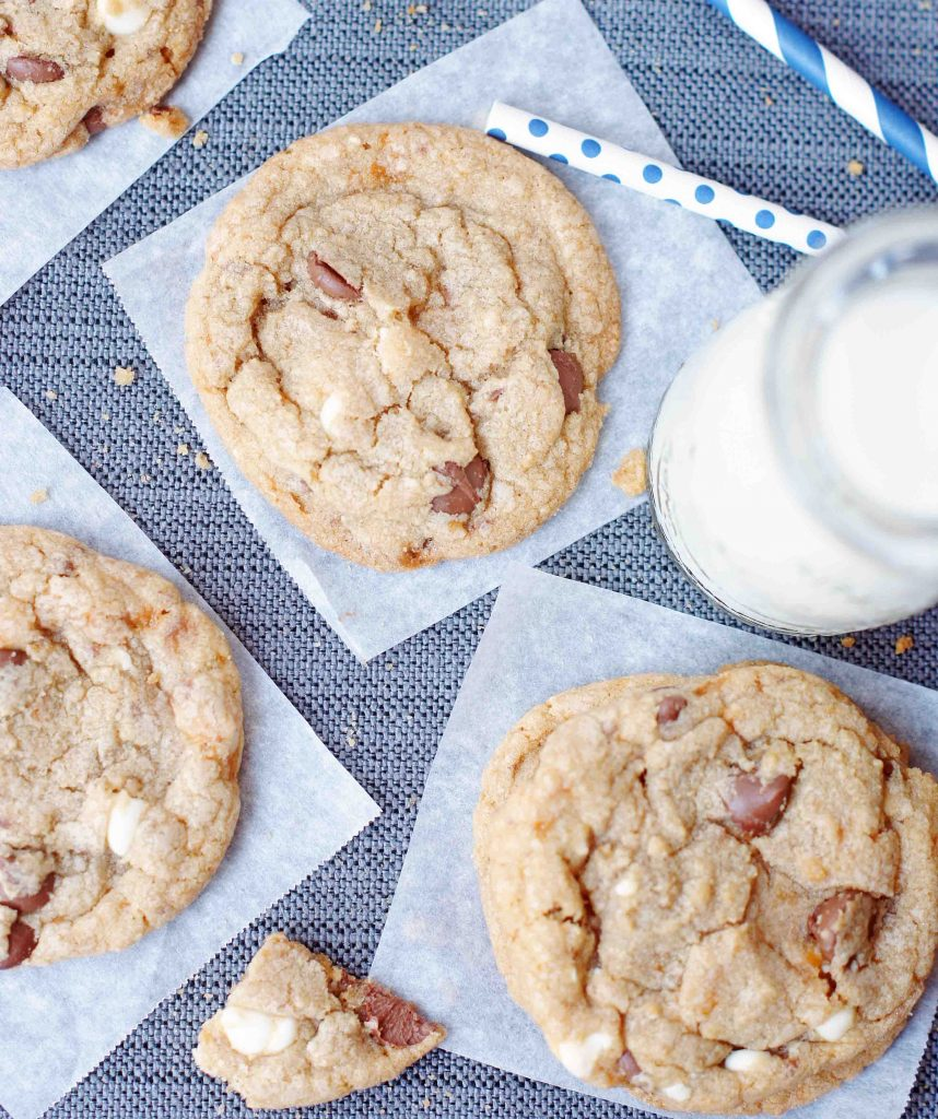 Double Chip Butterfinger Cookies