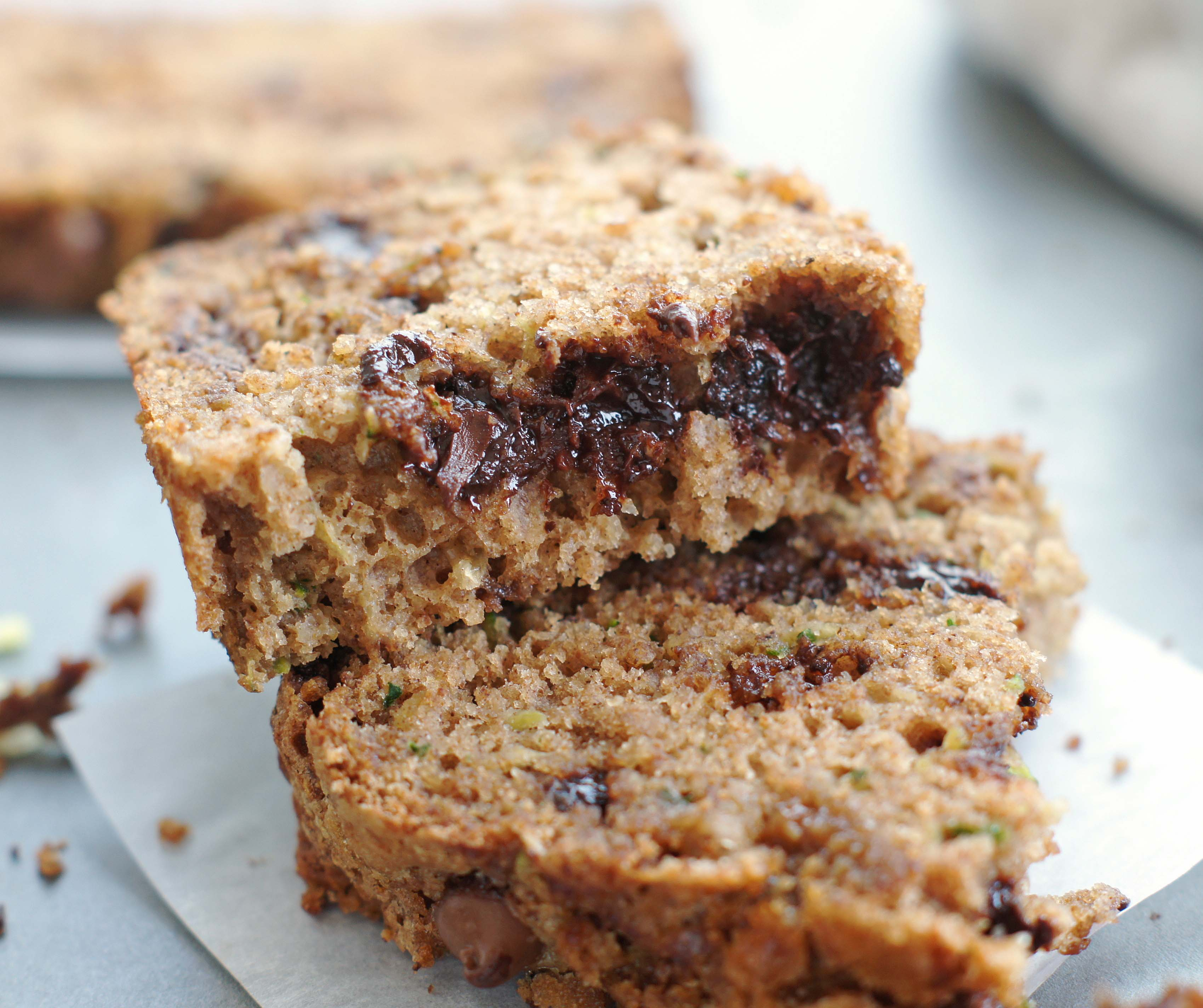 Low Fat Zucchini Chocolate Chip Bread - 5BoysBaker