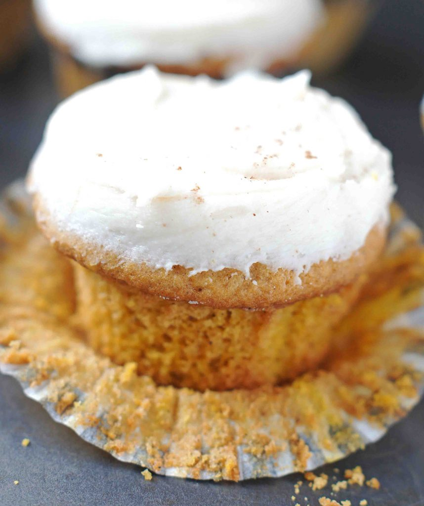 Pumpkin Spice Cupcakes with Browned Butter Frosting