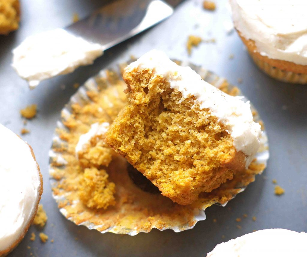 Pumpkin Spice Cupcakes w/ Browned Butter Frosting