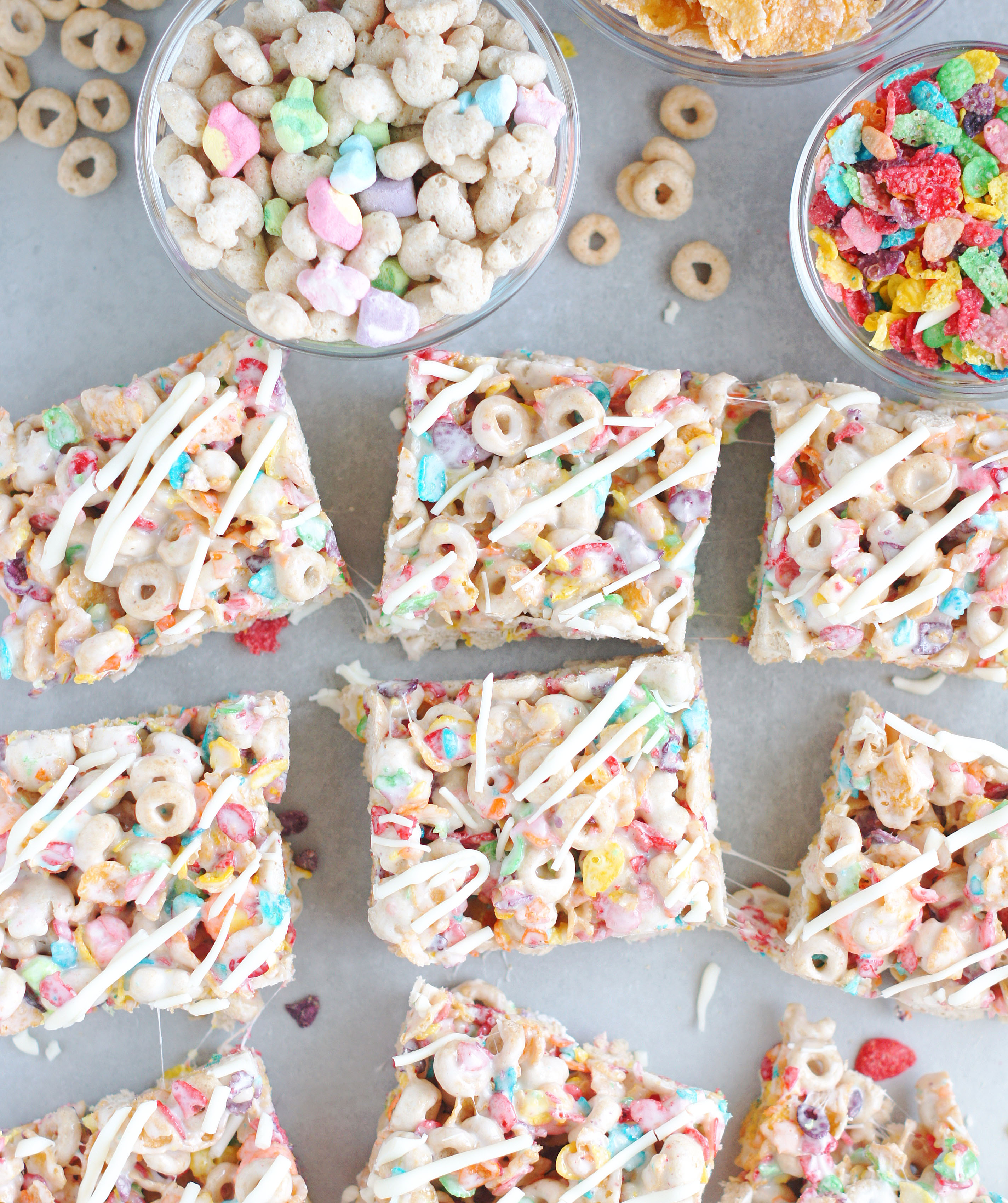 Killer cereal bars 5 boys baker these bars have four kinds of cereal going on in them lucky charms yum fruity pebbles love them frosted flakes who doesnt love frosted flakes ccuart Images