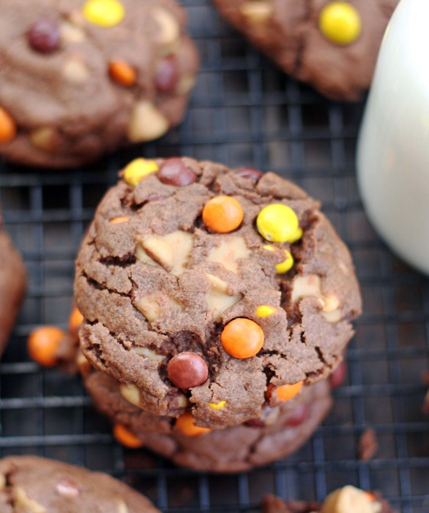 Chocolate Reese's Pieces Peanut Butter cookies_edited-1