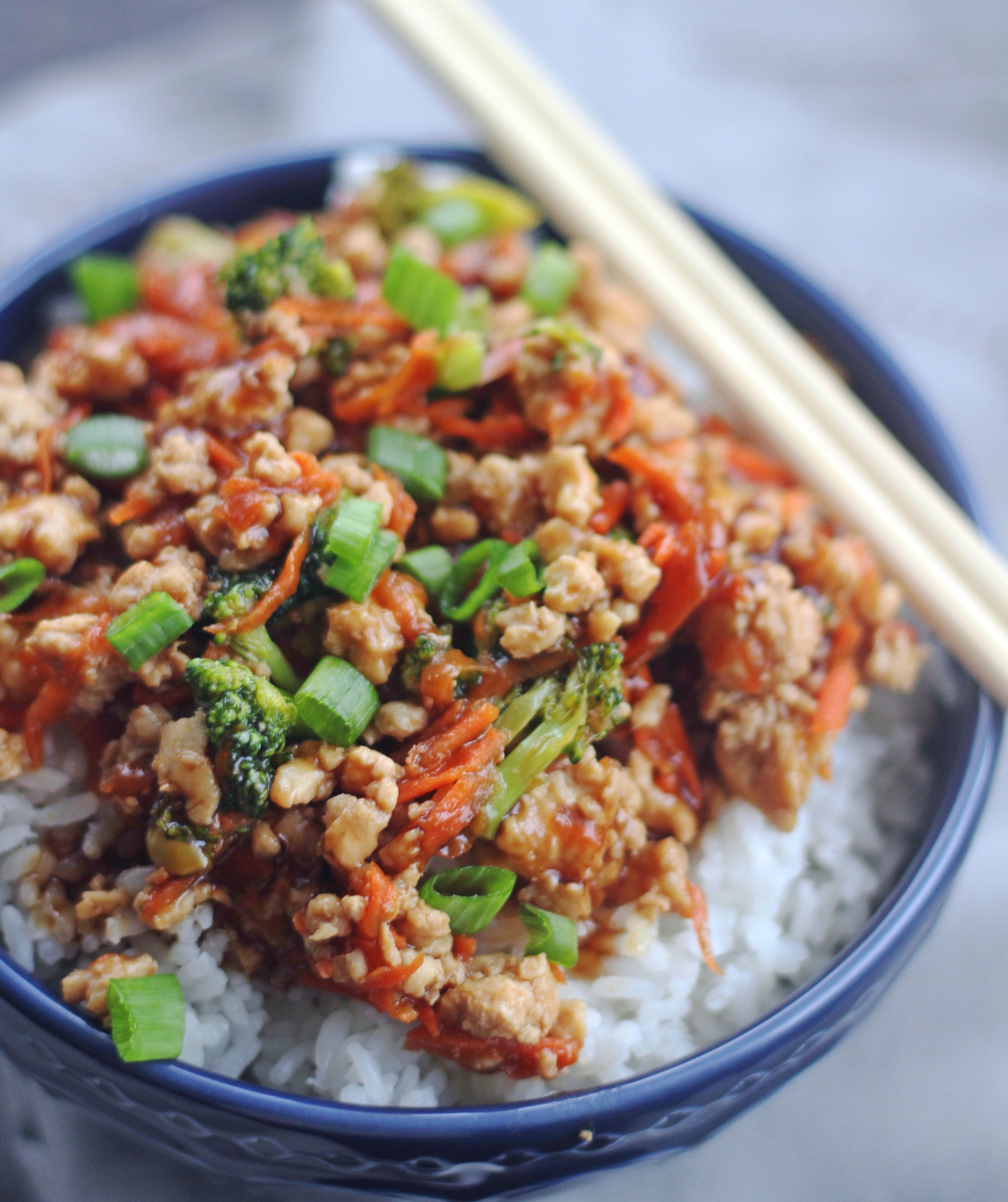simple teriyaki rice bowls