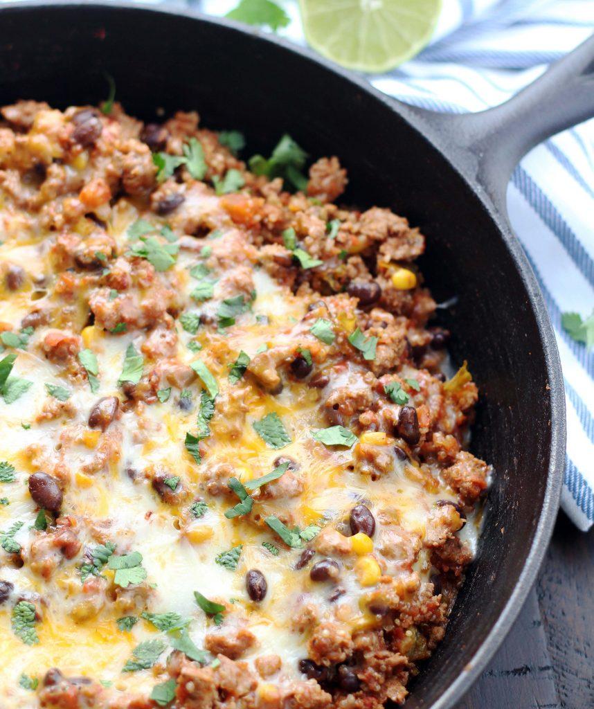 turkey-taco-quinoa-skillet