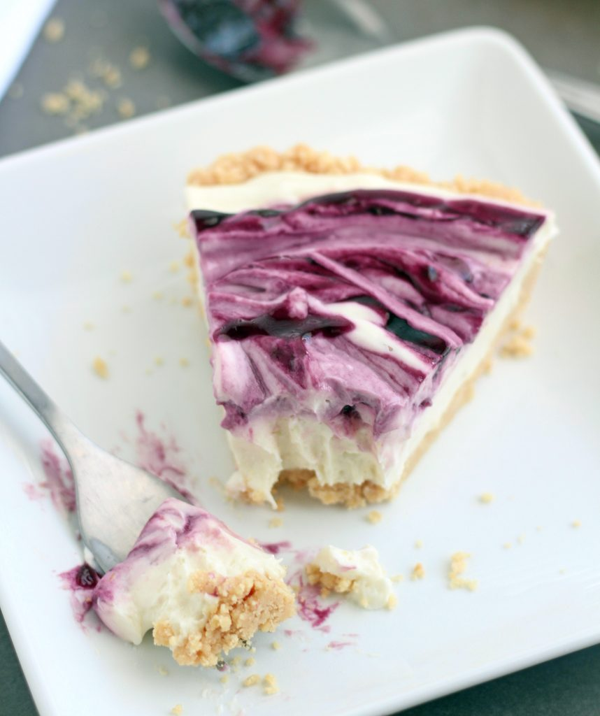 No Bake Black Raspberry cheesecake 2