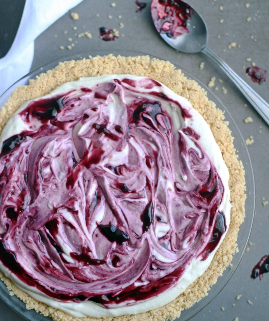 black raspberry no bake cheesecake