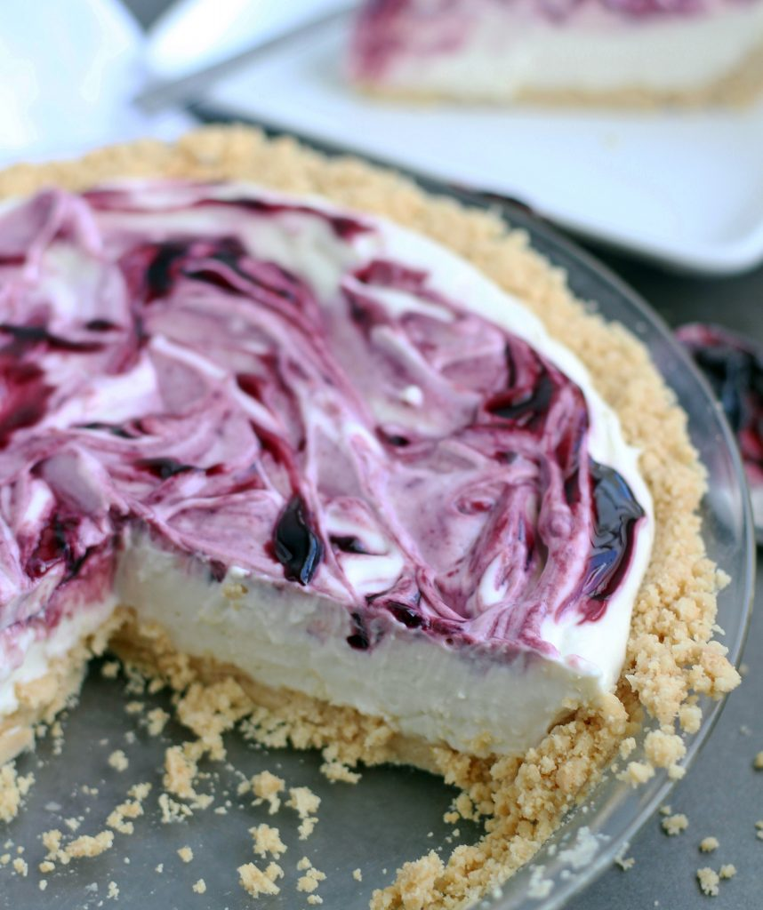 no bake black raspberry cheesecake