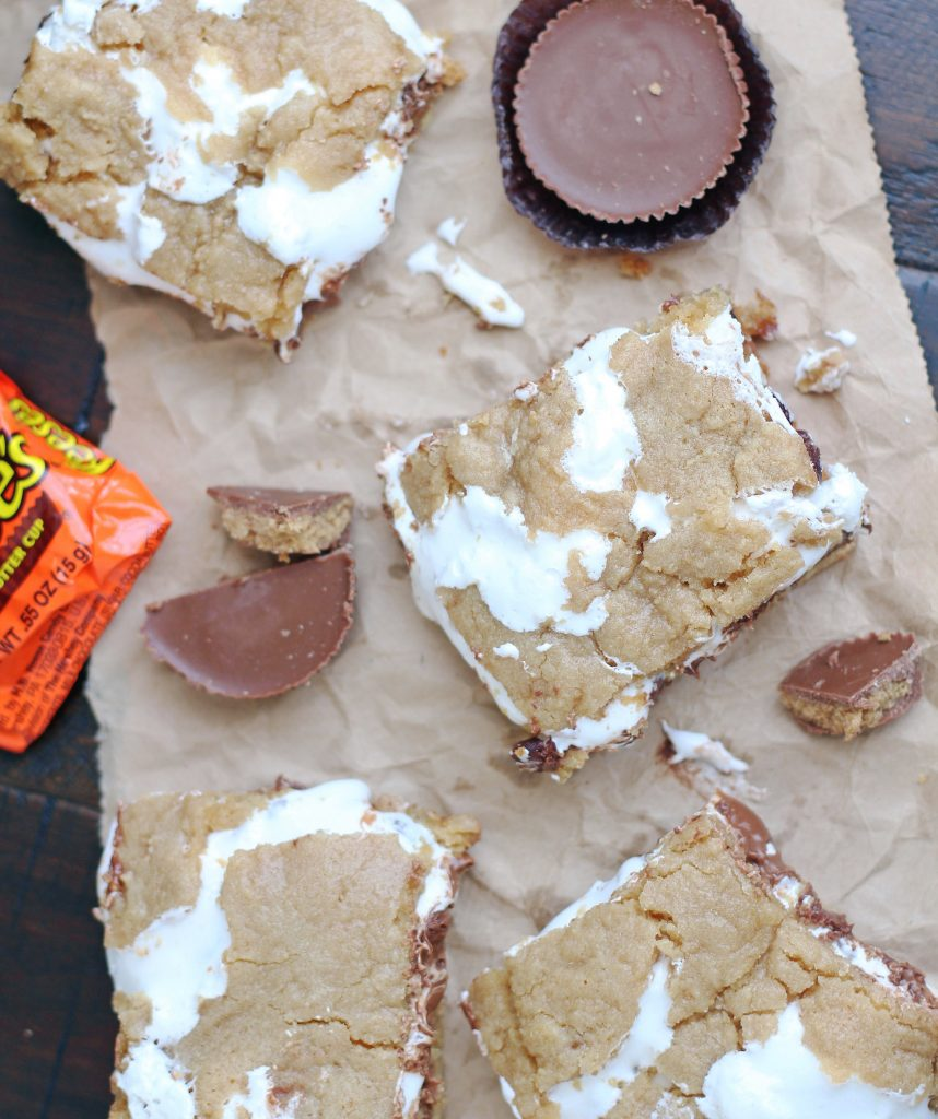 peanut butter cup s'mores bars 2