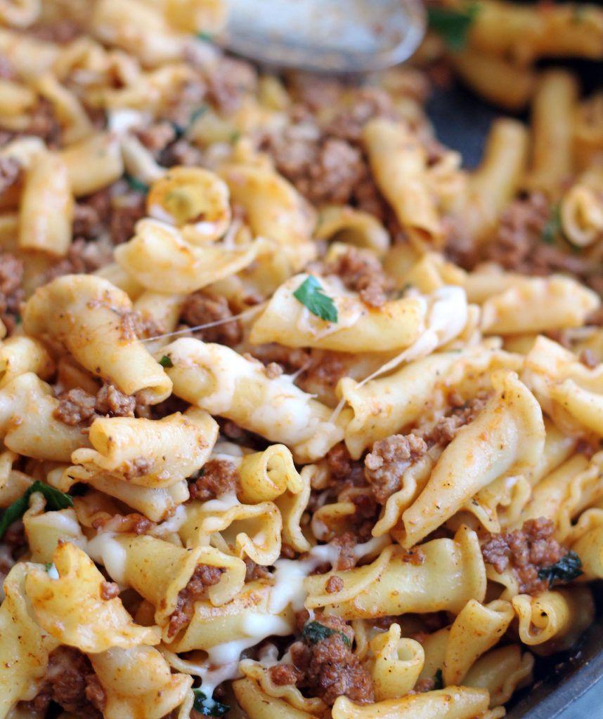 30-minute skilletl meat & cheese pasta 3