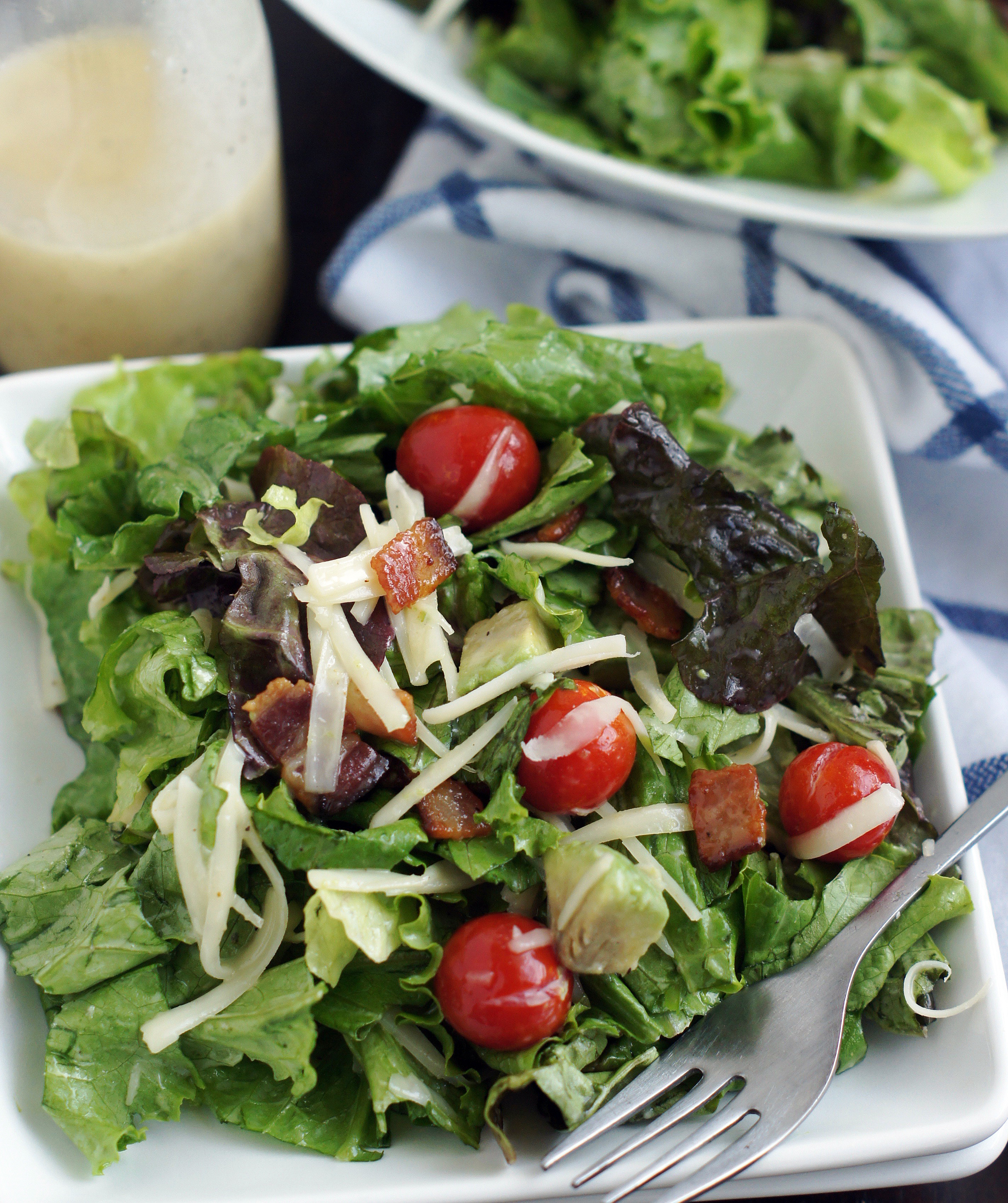 Plate of BLT Avocado Salad