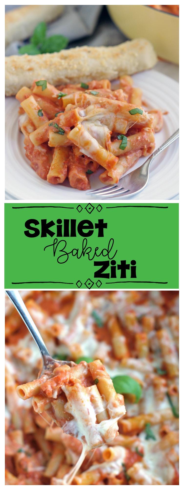 Skillet Baked Ziti 5 Boys Baker