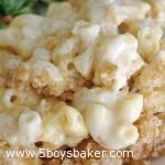 Plate of macaroni and cheese