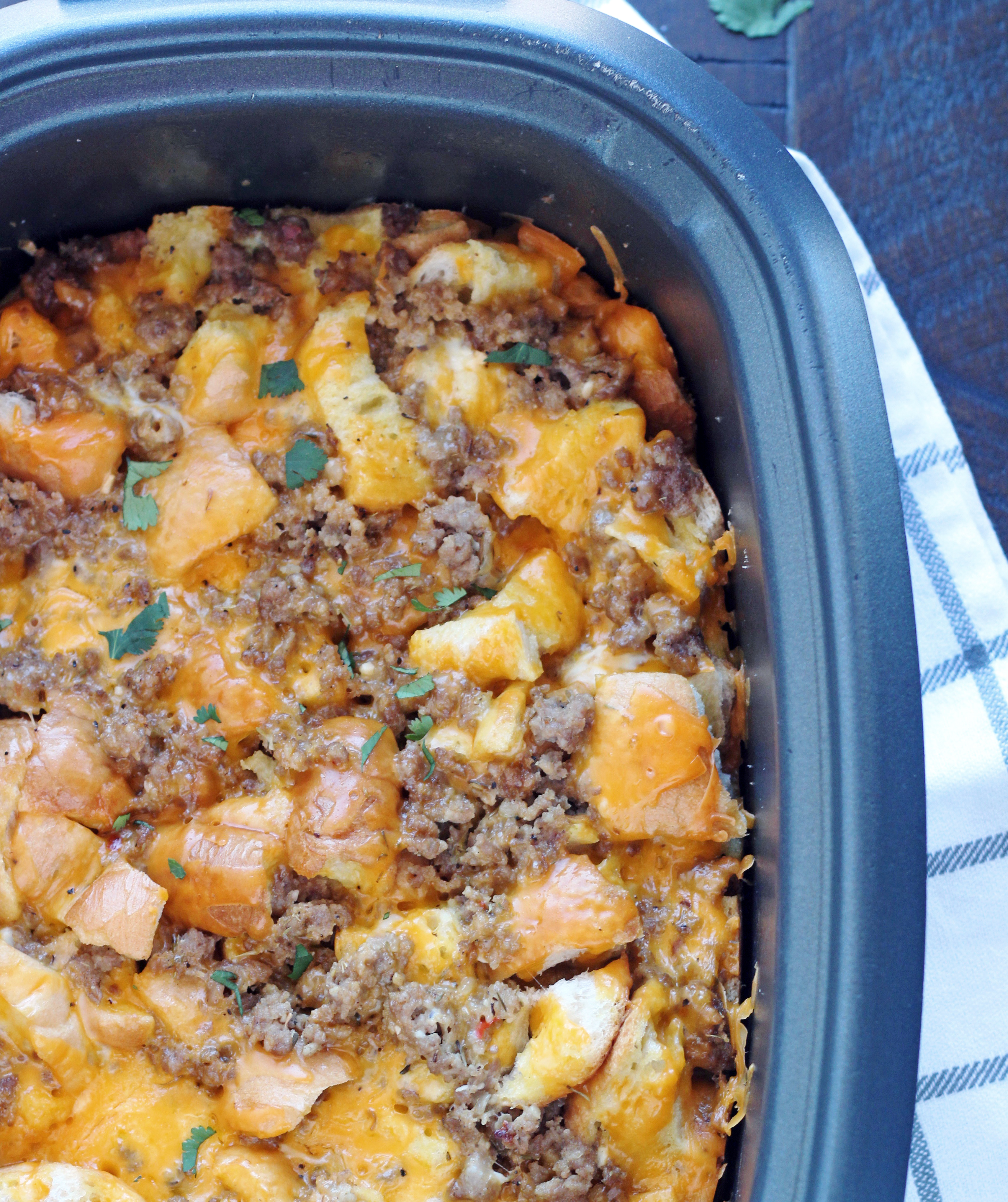 Slow Cooker Breakfast Strata