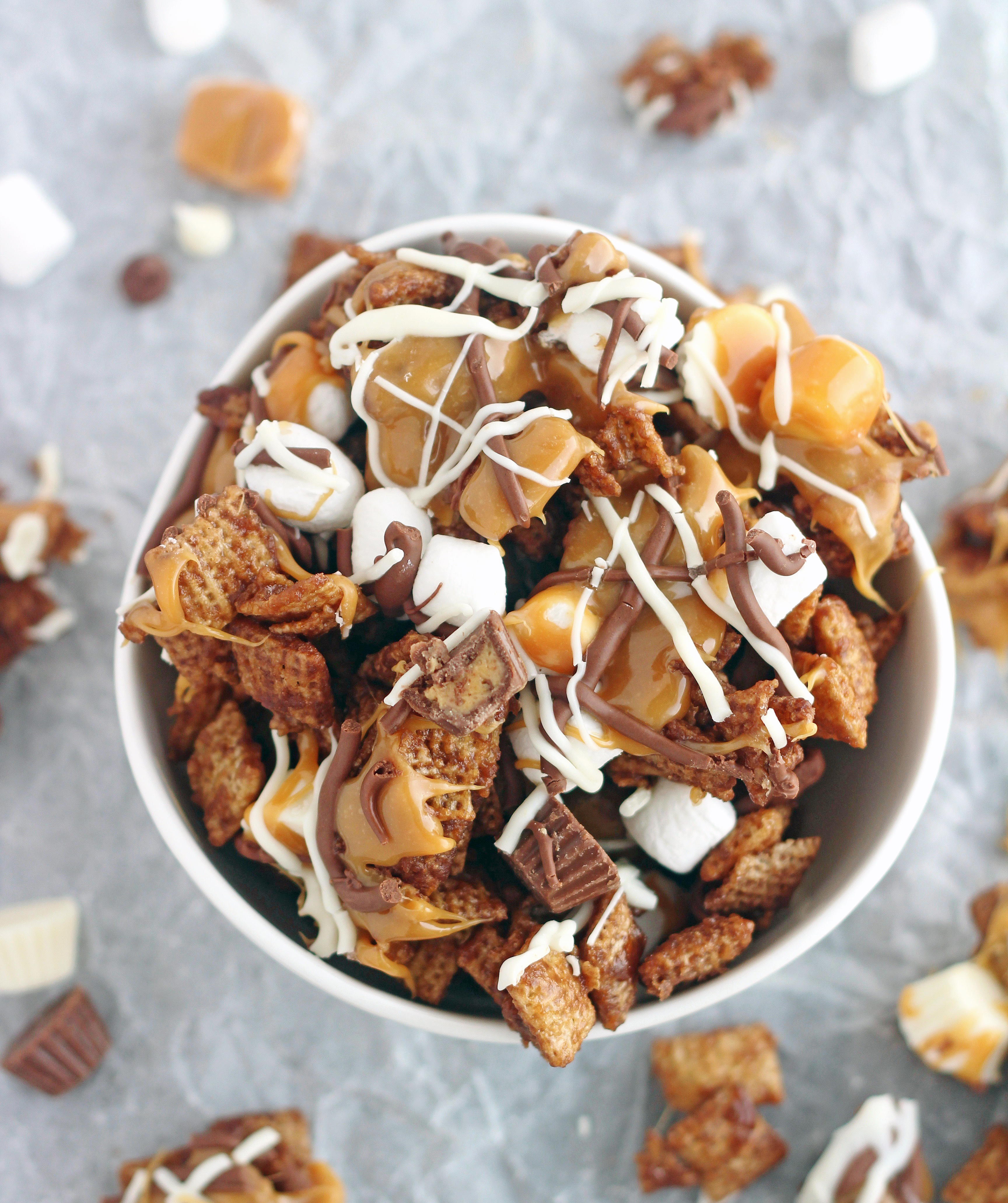 Bowl of Over The top Chex Mix