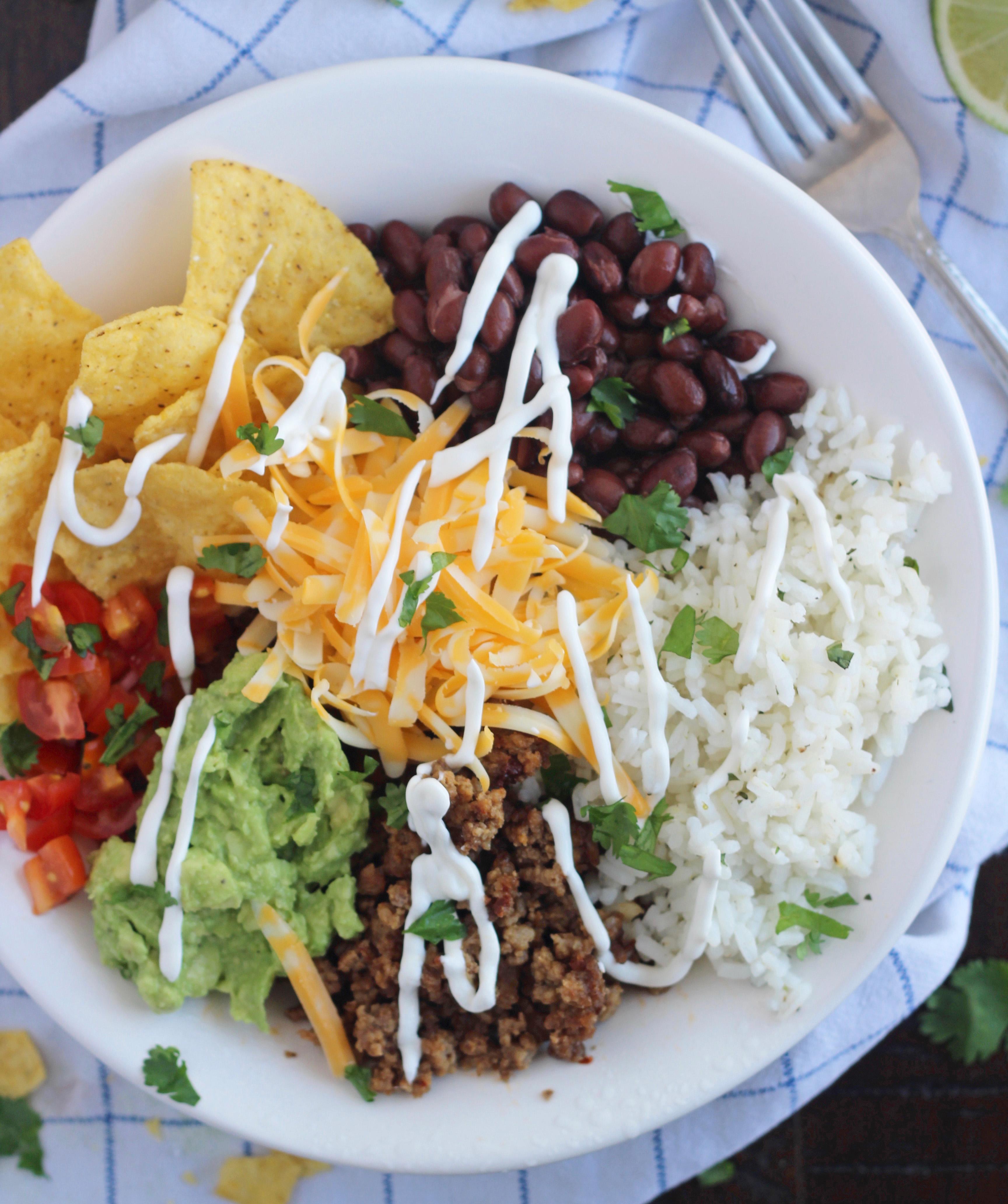 Smoky Ground Beef Burrito Bowl