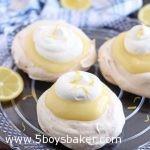 plate of lemon custard filled meringue cups