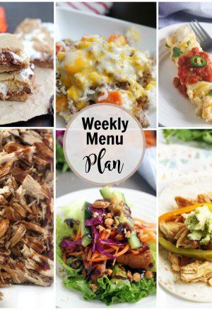 Collage of weekly menu ideas