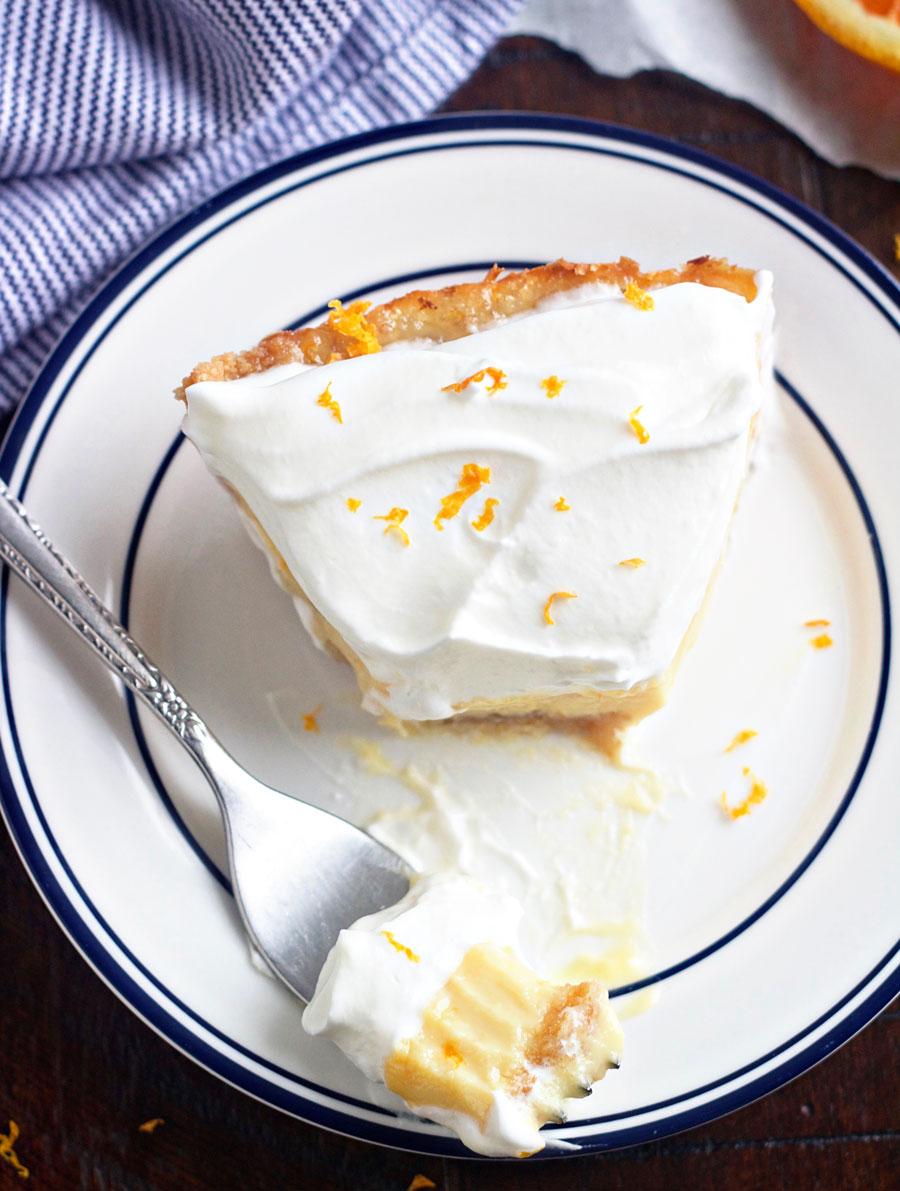 slice of creamsicle pie