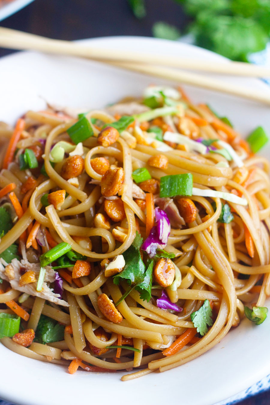 plate of easy thai noodles
