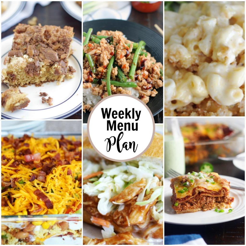 weekly menu collage