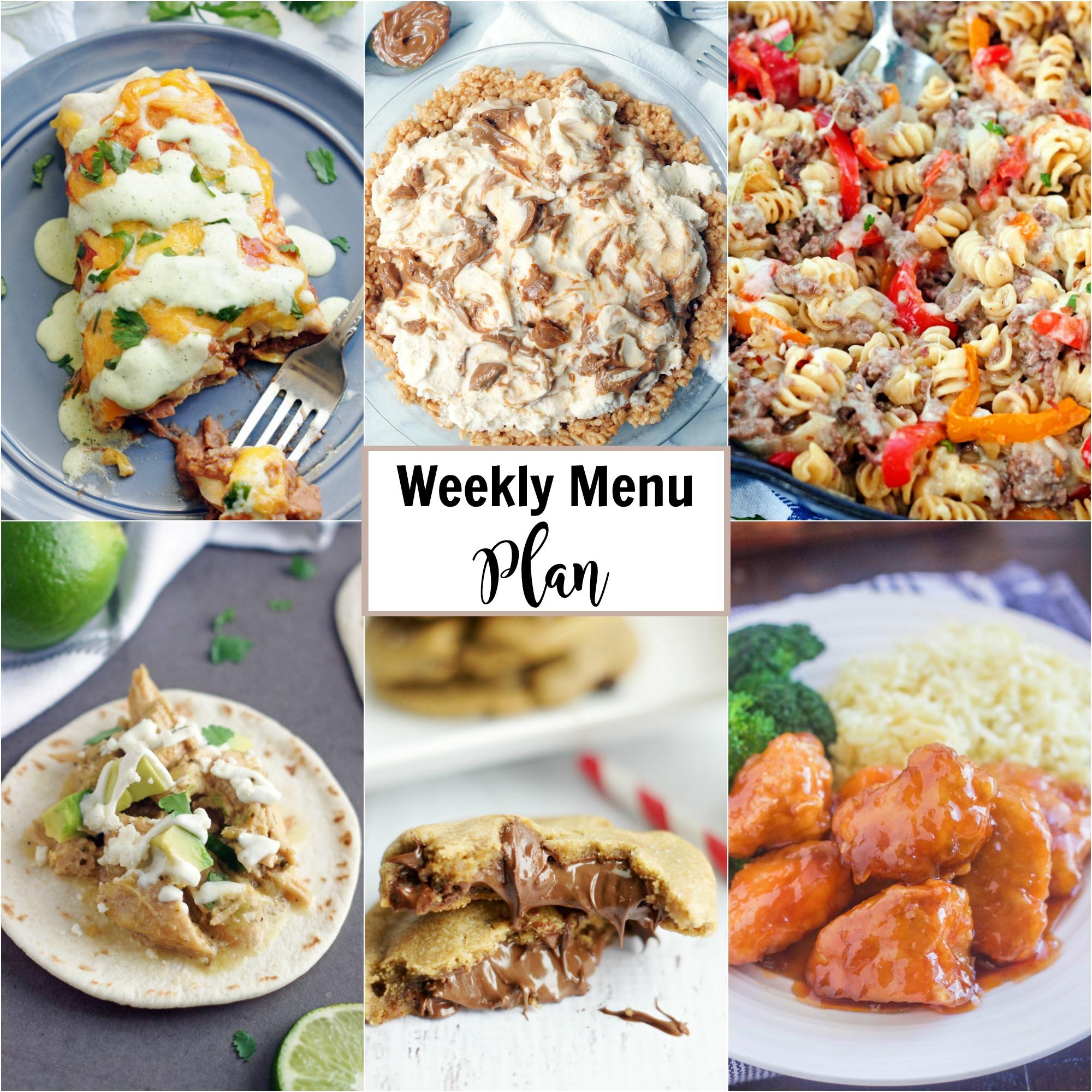 Collage of Weekly Menu Plan meals