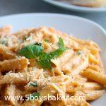 plate of instant pot creamy tomato pasta